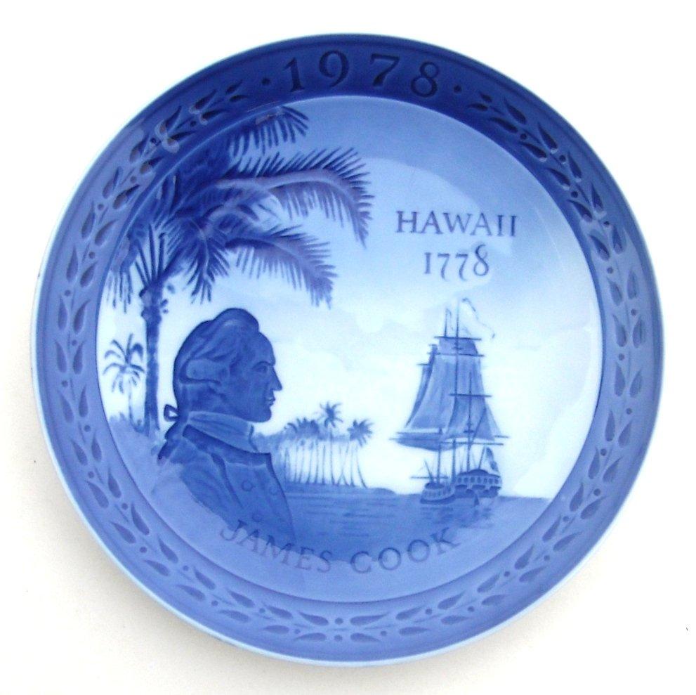 Royal Copenhagen Denmark James Cook Hawaii 200 Years Plate 1978