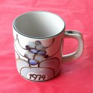 Danish Royal Copenhagen Denmark Annual Mug 1974