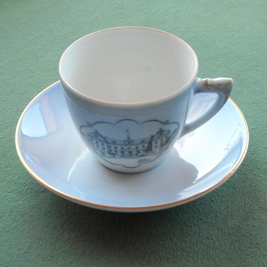Danish Bing & Grondahl Copenhagen Drottningholm castle cup and saucer