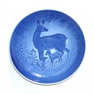 Bing & Grondahl Copenhagen Doe With Fawns Mothers Day Plate 1975