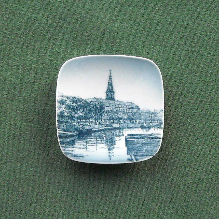 Bing & Grondahl Copenhagen Denmark Christiansborg Small Plate Ornament
