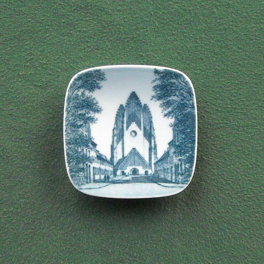 Bing & Grondahl Copenhagen Denmark Grundtvigs Kirken Small Plate Ornament