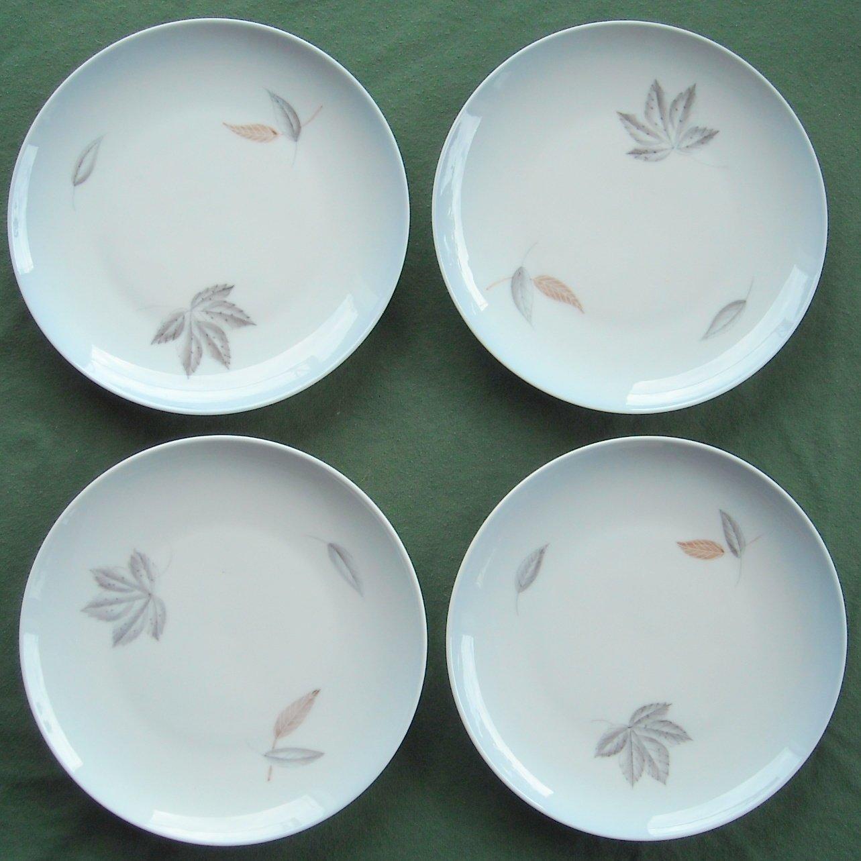 Lot of 4 Bing Grondahl Copenhagen Falling Leaves Blue 7 Inch Plates