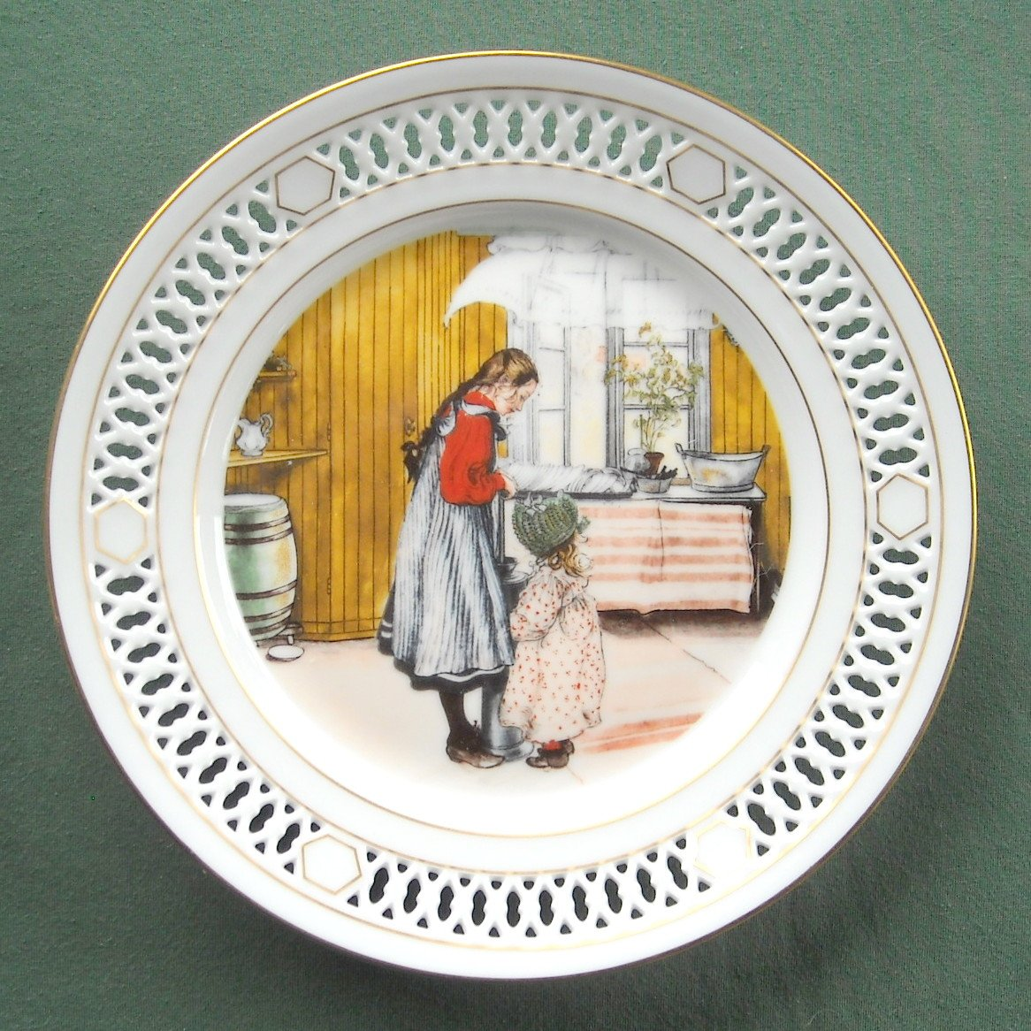 Bing Grondahl Denmark Carl Larsson First North American Edition plate 4 1978