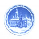 Royal Copenhagen 1985 Boxed Mini Christmas Plate