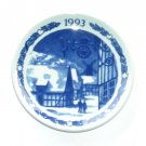 Royal Copenhagen Denmark Boxed 1993 Plaquette Small Christmas Plate