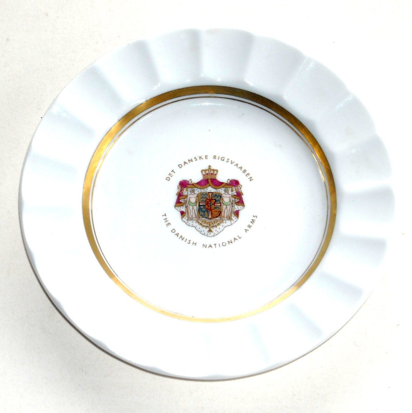 Coat of Arms Royal Copenhagen Piece of Denmark Pin Dish Small Plate