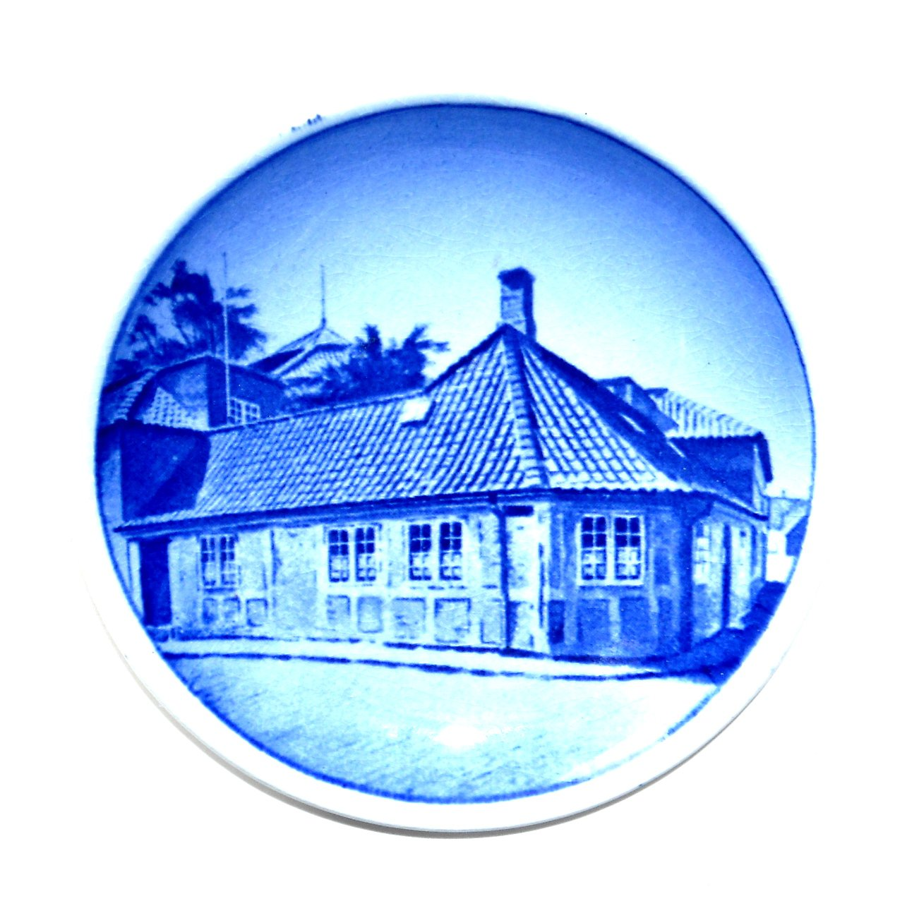 H C Andersens House Odense Denmark Aluminia Royal Copenhagen Vintage Mini Plate