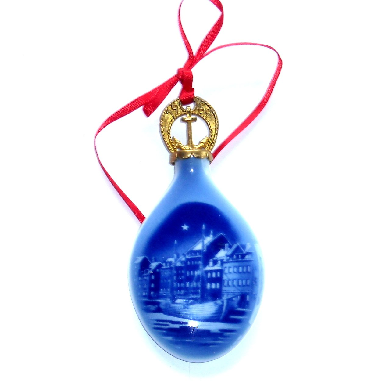 Bing & Grondahl Copenhagen Denmark Christmas Drop Ornament 1989 Boxed