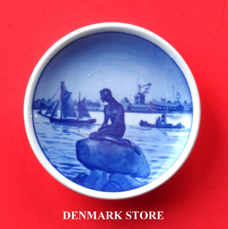 Little Mermaid Langelinie Vintage Aluminia Royal Copenhagen Plaquette