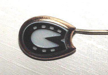 Victorian Carved Onyx Horseshoe Stickpin