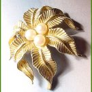 Signed Vintage c1970 Jomaz, by Mazer Bros., Coconuts And Palm Tree Brooch