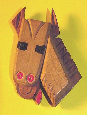 Comic Vintage 1950s Wooden Horse