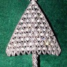 Sparkly Rhinestones Vintage Christmas Tree Brooch - Free USA Shipping