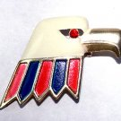 1960s Patriotic Enamel Bald Eagle Brooch - Free USA Shipping