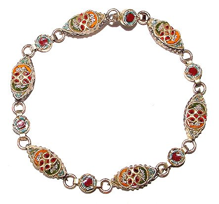 Vintage Early 20th Century Mosaic Bracelet - Free USA Shipping