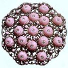 1920s Art Deco Czech Glass and Filigree Gurtler Brooch