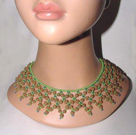 Vintage c1935 Czech Beaded Collar