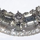 Vintage Black Diamond Rhinestone Brooch - Free USA Shipping