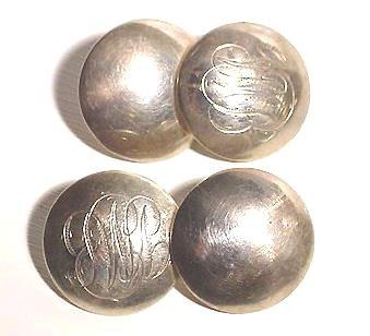 Antique Sterling Monogrammed Cufflinks