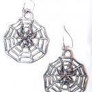 Large Spider & Web Sterling Earrings - Free USA Shipping