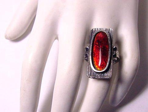 Scandinavian Sterling Modernist Ring