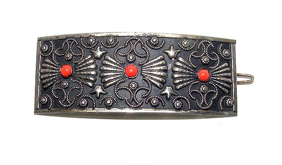 Very Fancy Niello Hair Barrette - Free USA Shipping