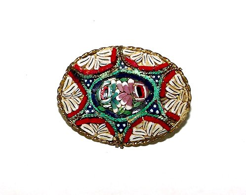 Lovely Antique Mosaic Brooch
