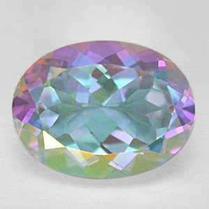 12Cts Fantasy Moonglow Rainbow Color Natural Topaz - Free USA Shipping