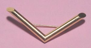 Art Moderne Geometric 14K Gold Brooch - Free USA Shipping