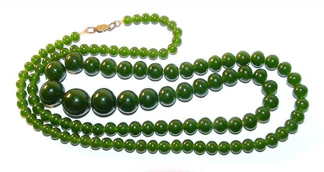 1920s Peking Glass Graduated Necklace