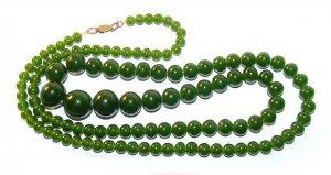 1920s Peking Glass Graduated Necklace - Free USA Shipping