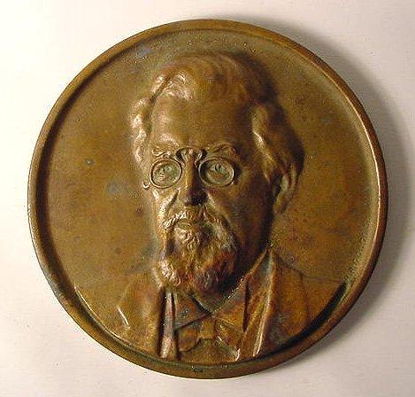 Bronze Plaque of Candy Man Henry Heide