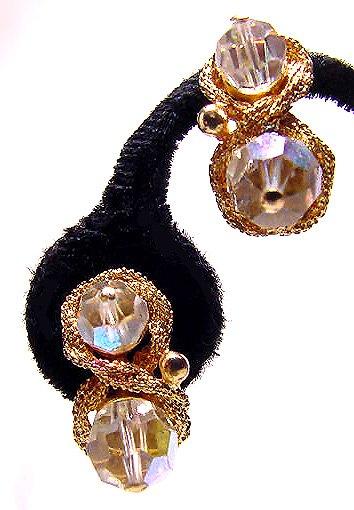 Francois Aurora Borealis Vintage Earrings - Free USA Shipping