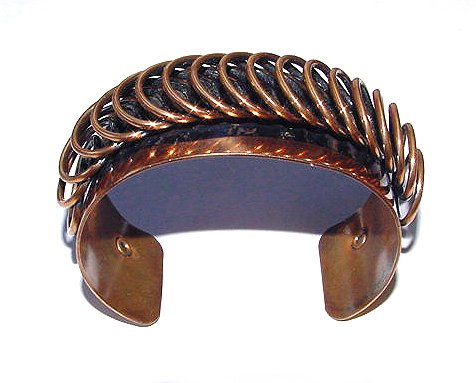Signed Renoir 1950s Copper Cuff Bracelet