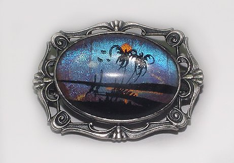 Signed Hoffman Sterling Vintage Butterfly Wing Brooch - Sold