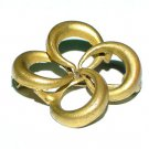 Late Victorian Gilt Loveknot Brooch