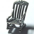 Vintage Miniature Sterling Silver Rocker - Free USA Shipping