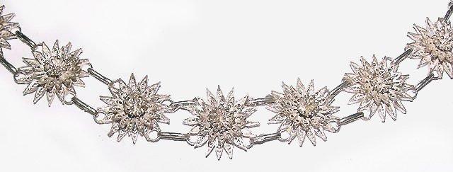 Lacey Sterling Filigree Flower Bracelet