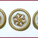 Set of Victorian Brass & M.O.P. Buttons - Free USA Shipping