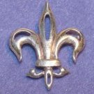 Antique Edwardian Sterling Fleur-de-Lis Brooch - Free USA Shipping