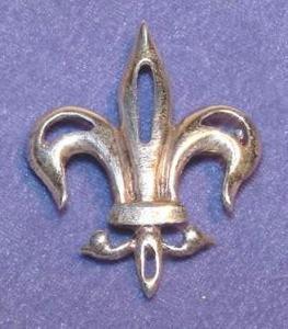 Antique Edwardian Sterling Fleur-de-Lis Brooch - Free USA Shipping