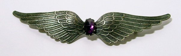 Large Antique Art Nouveau Spread Wings Brooch