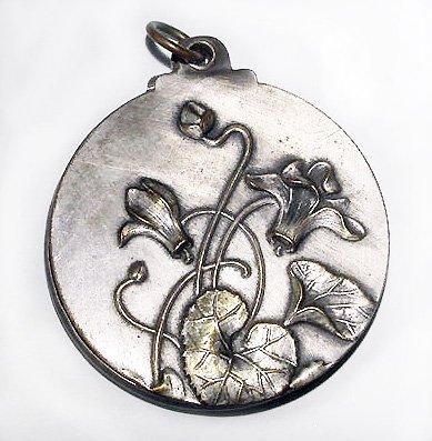 Antique French Art Nouveau Pendant Mirror - Sold