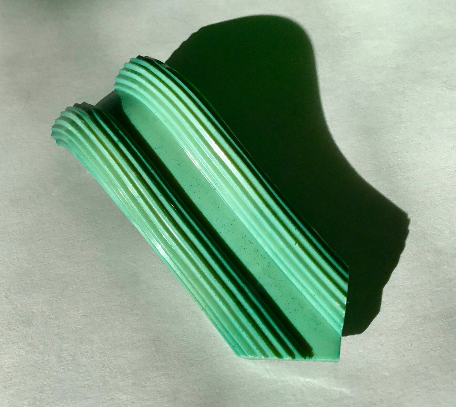 Blue Green Vintage Celluloid Dress Clip - Free USA Shipping