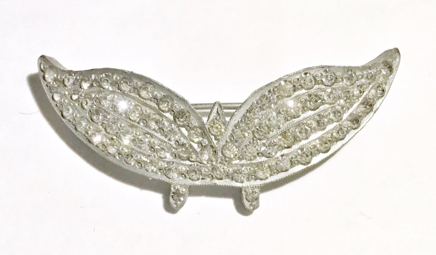 1920s Rhinestone Art Deco Bird Brooch - Free USA Shipping