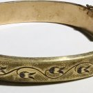 Engraved Victorian Gold Filled Bangle - Needs Repair - Free USA Shipping