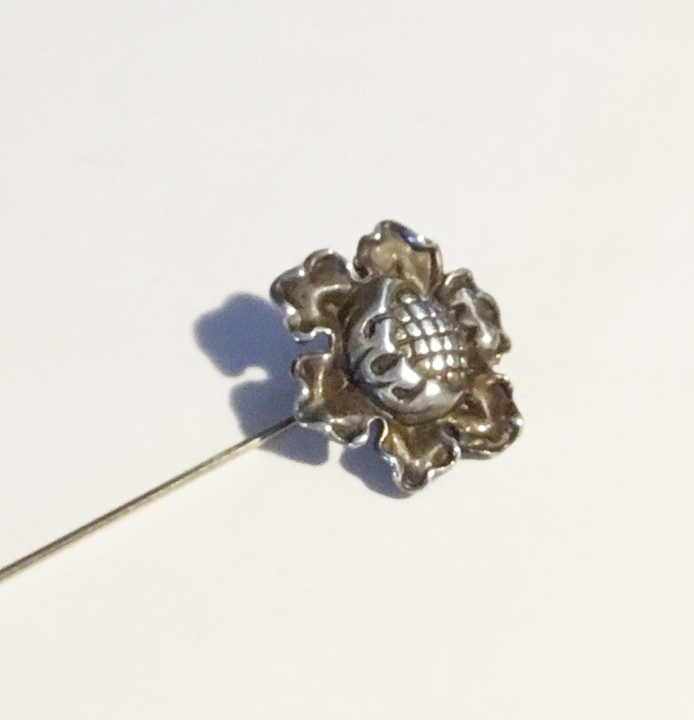 Antique Art Nouveau Sterling Poppy Stickpin