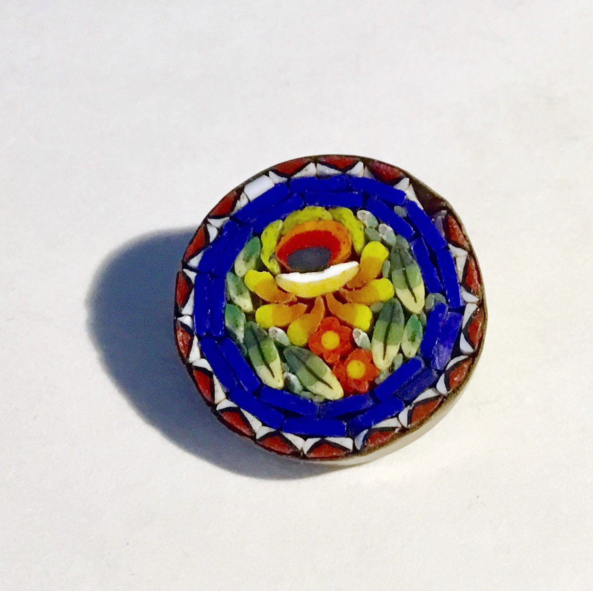 Early 20th Century Vintage Mosaic Brooch - Free USA Shipping