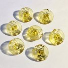 Elegant Art Deco Yellow Glass Button Set - Free USA Shipping